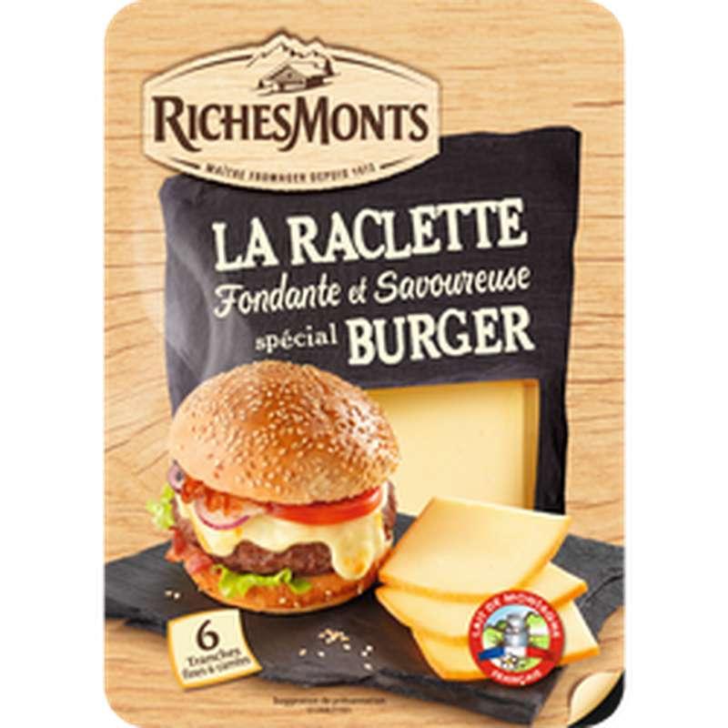 Raclette nature en tranches spécial burger, RicheMonts (x 6, 140 g)