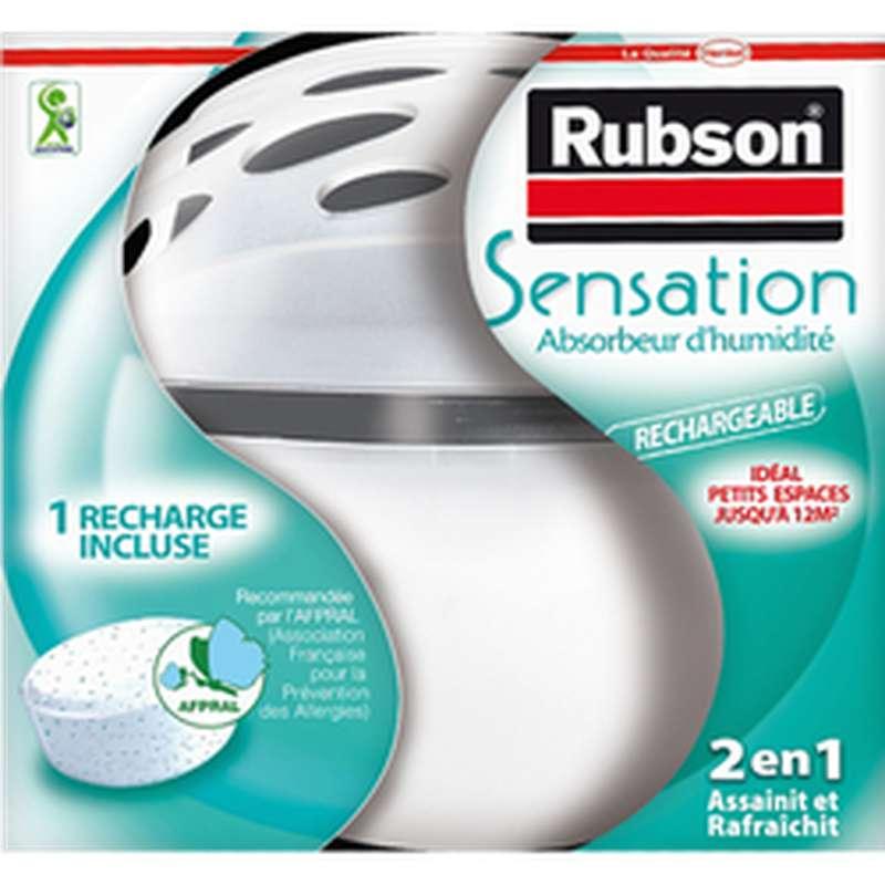 Absorbeur d'humidité rechargeable Sensation + recharge, Rubson (300 g)