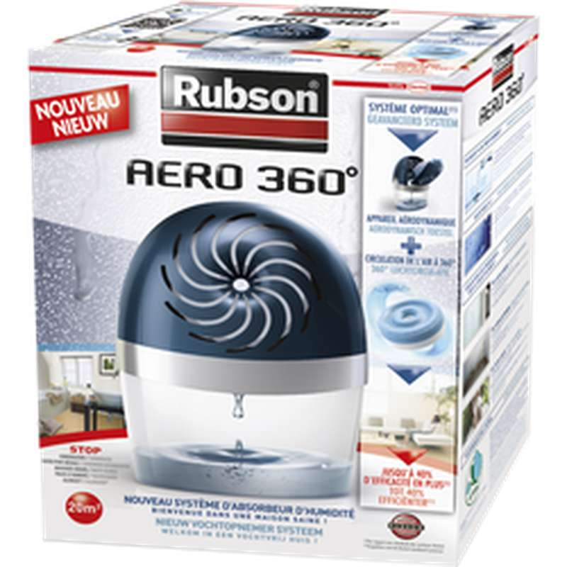Absorbeur d'humidité Aéro 360° surface 20m2, Rubson