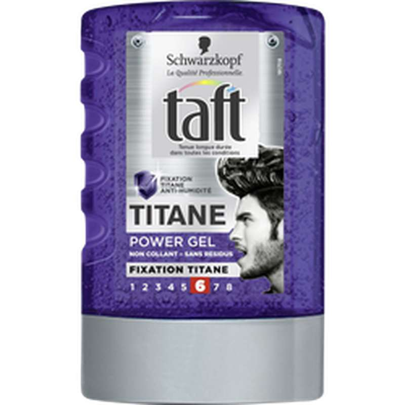 Gel coiffant Power Titane tenue extrême, Taft Styling (300 ml)