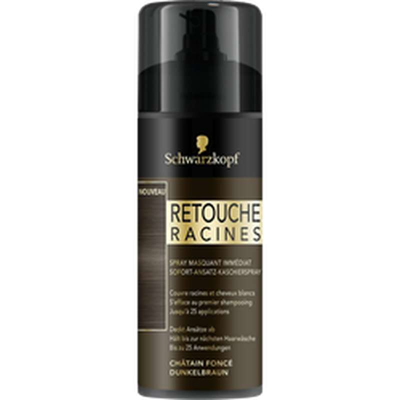 Spray retouche racines Châtain foncé, Schwarzkopf (120 ml)