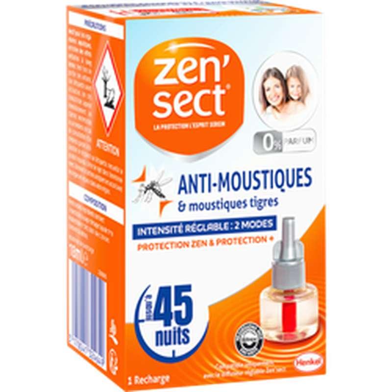 Recharge liquide pour diffuseur électrique anti-moustiques, Zensect (45 nuits)