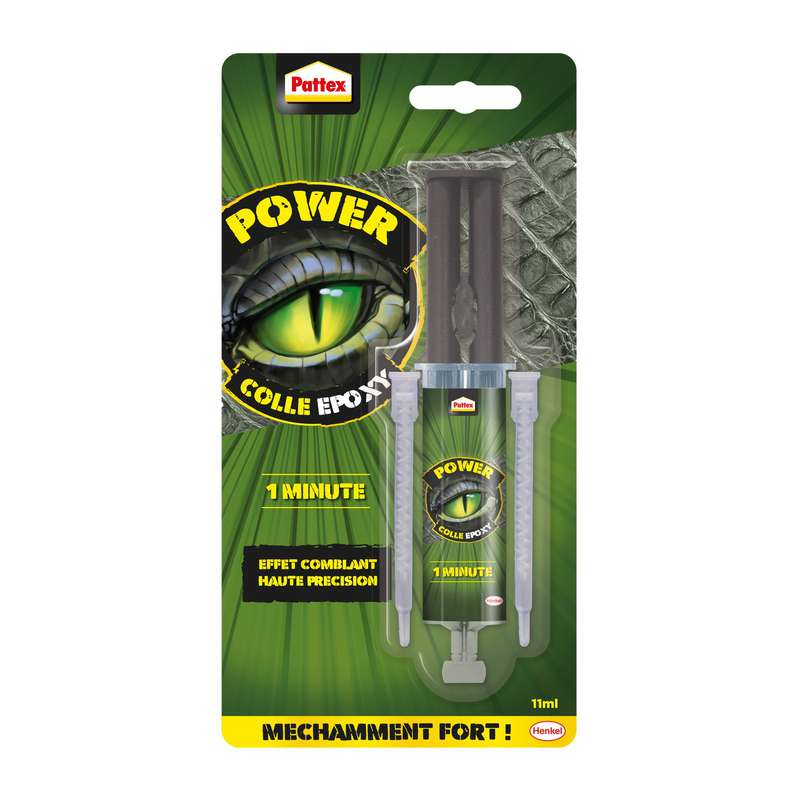 Colle Epoxy Power 1 minute, Pattex (11 ml)