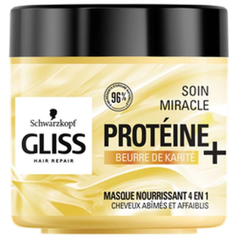 Masque traitement miracle au beurre de karité, Gliss (400 ml)