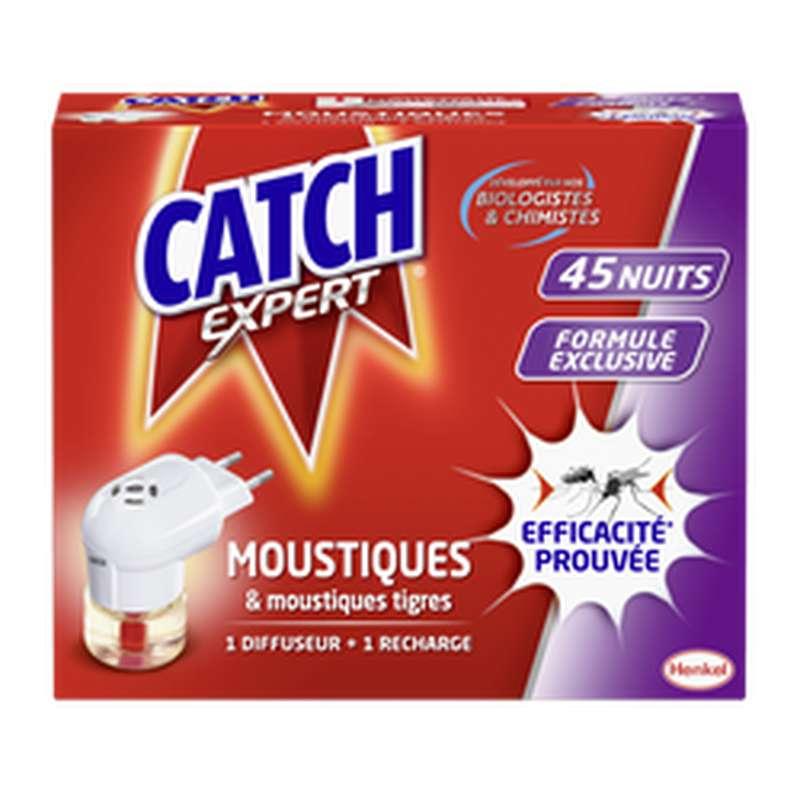 Diffuseur électrique + recharge liquide anti-moustiques, Catch (45 nuits)