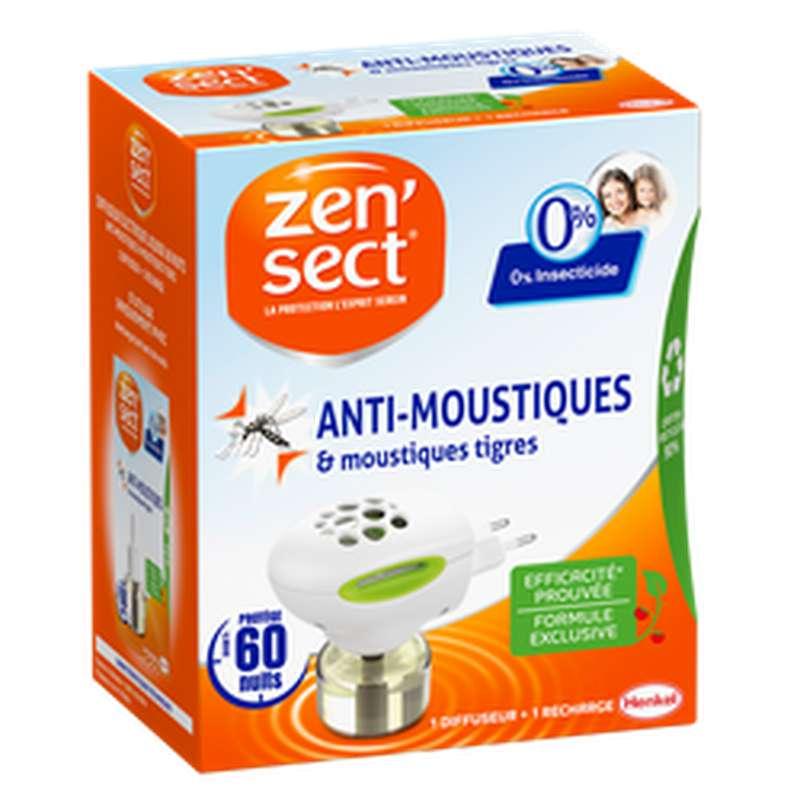 Diffuseur électrique anti-moustique 0% insecticide, Zensect (60 nuits)
