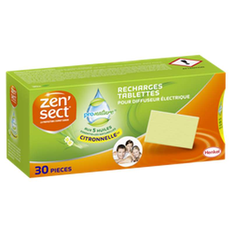Recharge tablettes pour diffuseur électrique à la citronnelle ProNature, Zensect (x 30)