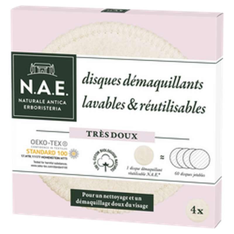 Cotons Démaquillant réutilisable, Nae (x4)