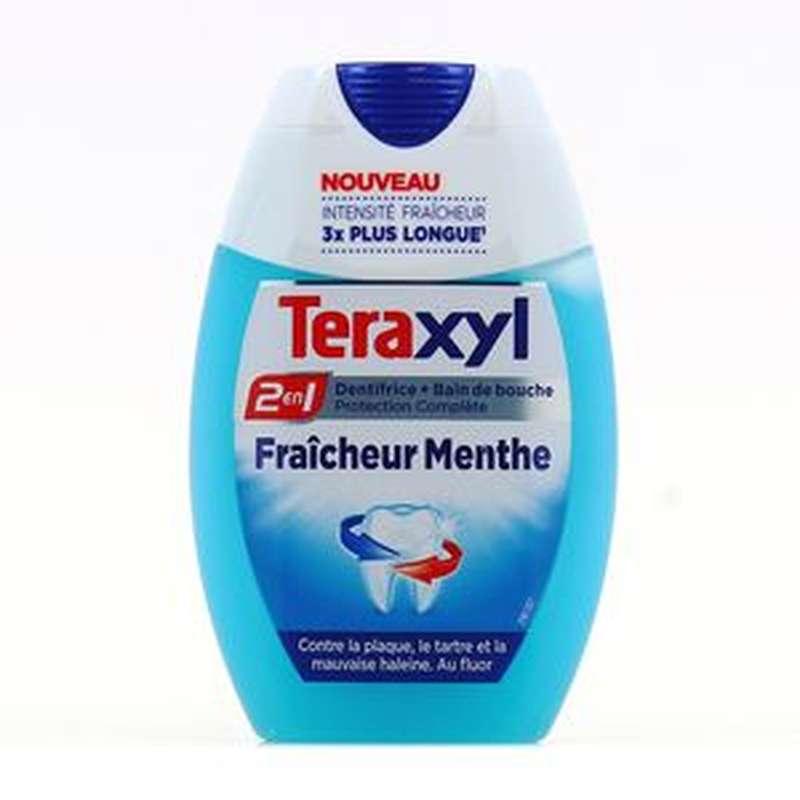 Dentifrice 2 en 1 menthe, Teraxyl (75 ml)