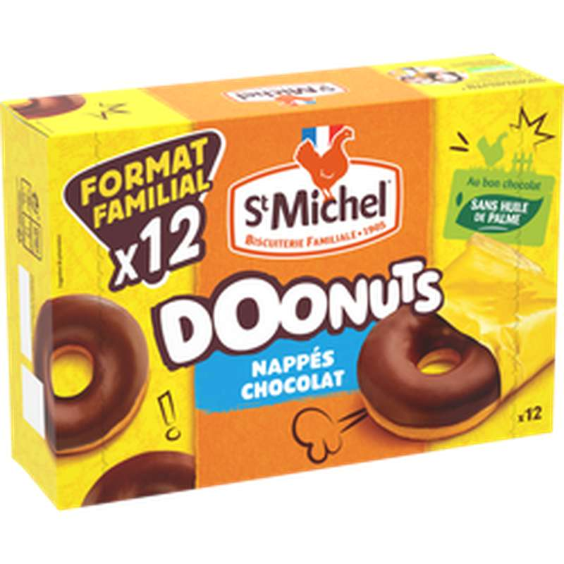 Doonuts Nappés chocolat, Saint Michel (360 g)