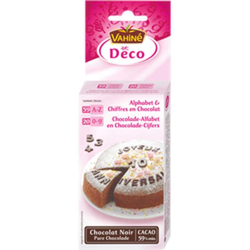 Décoration de lettres et chiffres en chocolat, Vahiné (26 g)