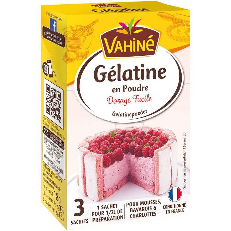 Gélatine en poudre, Vahiné (18 g)