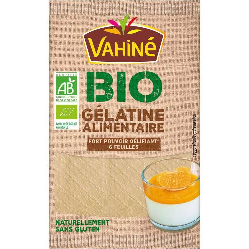 Gélatine alimentaire en feuilles BIO, Vahiné (x 6 feuilles)