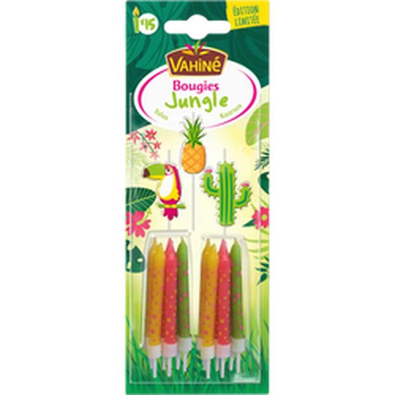 Bougies d'anniversaire, Vahiné (28 g, thème aléatoire Jungle/Super Héros)