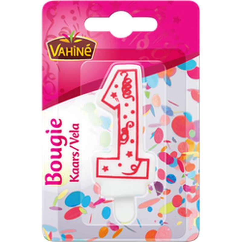 Bougie d'anniversaire chiffre n°1, Vahiné (x 1)