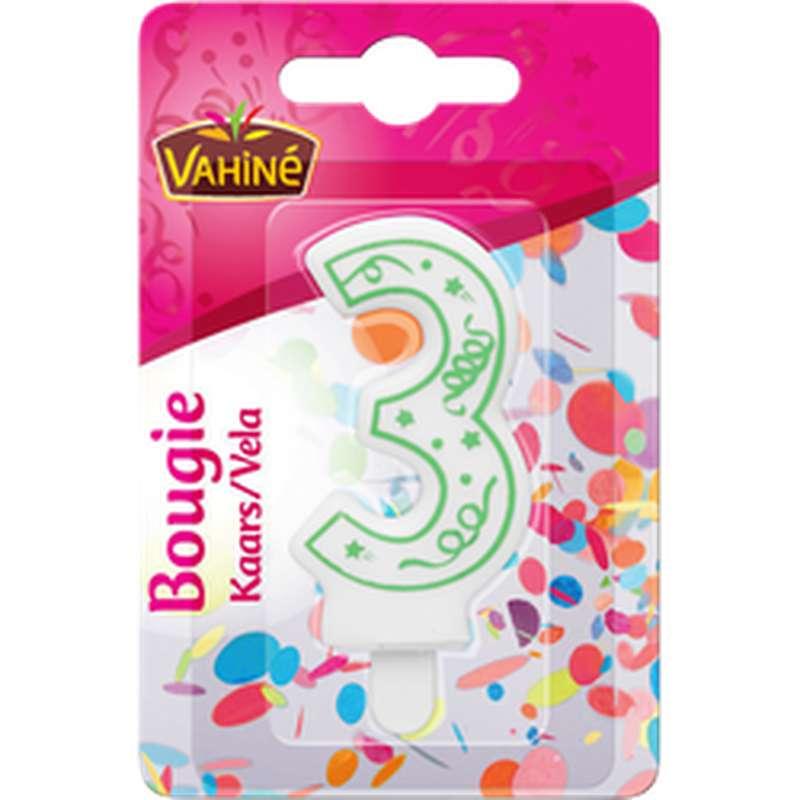 Bougie d'anniversaire chiffre n°3, Vahiné (x 1)