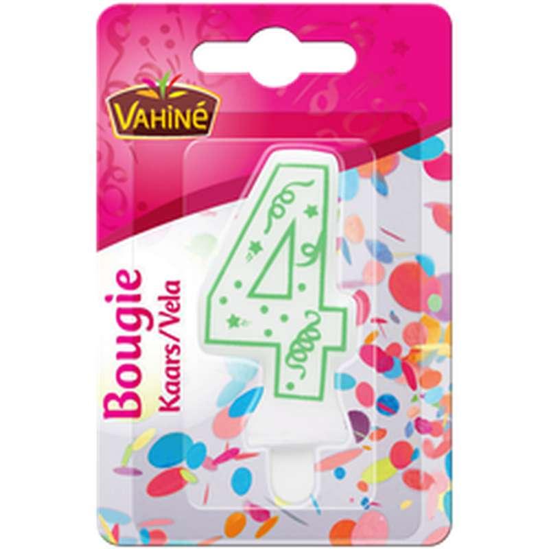 Bougie d'anniversaire chiffre n°4, Vahiné (x 1)