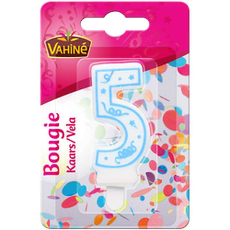 Bougie d'anniversaire chiffre n°5, Vahiné (x 1)