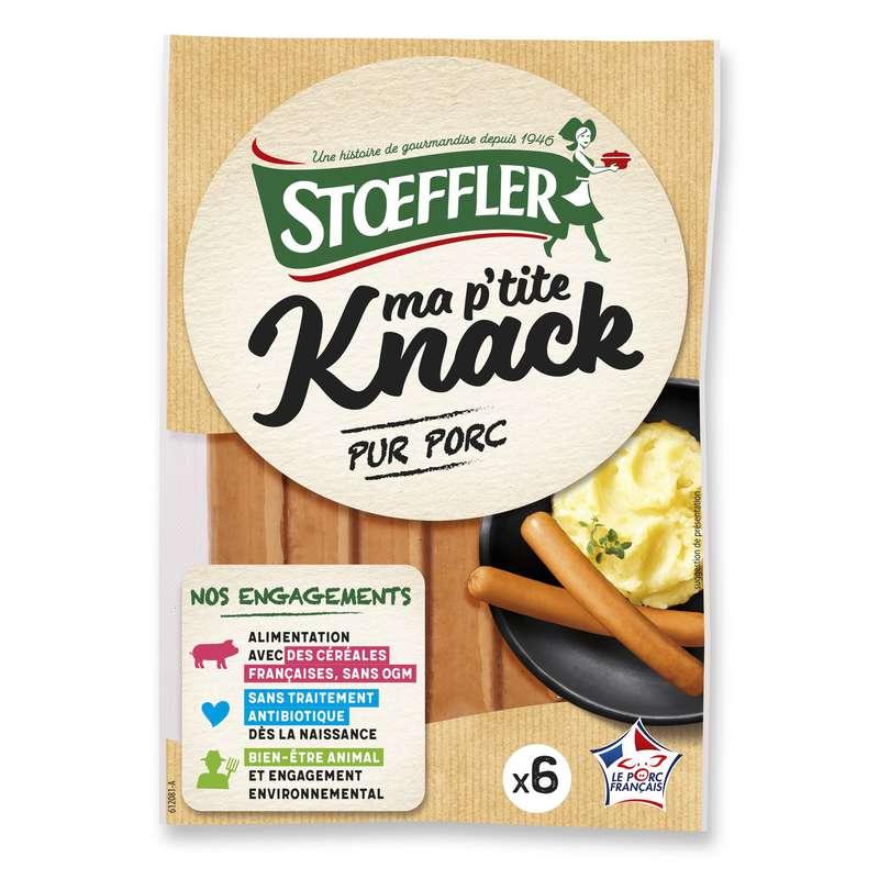 Saucisse Ma P'tite knack pur porc, Stoeffler (x 6, 200 g)