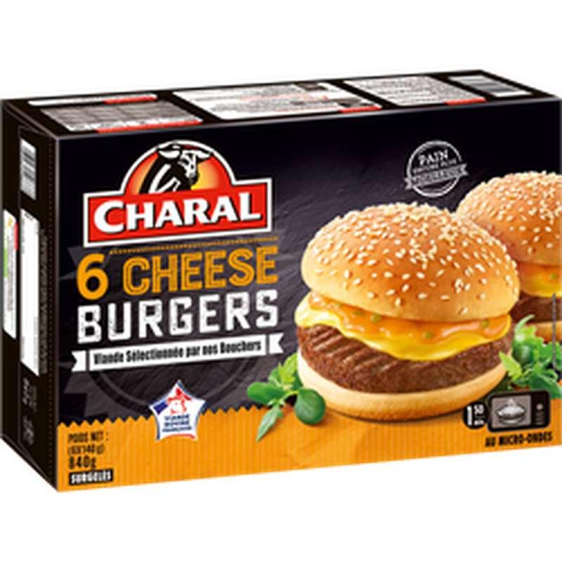Cheeseburger, Charal (x 6, 140 g)