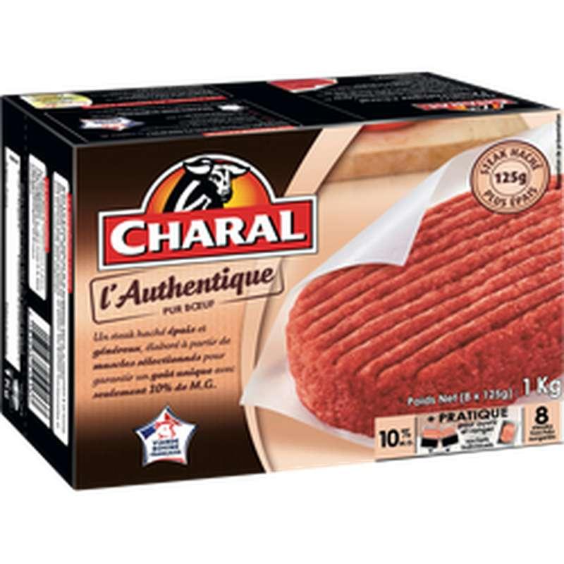Steak haché L'authentique 10%mg, Charal (x 8)