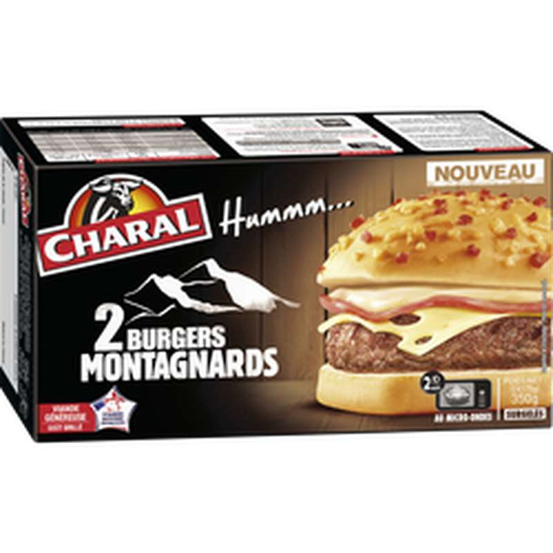 Le Burger montagnard, Charal (2 x 175 g)
