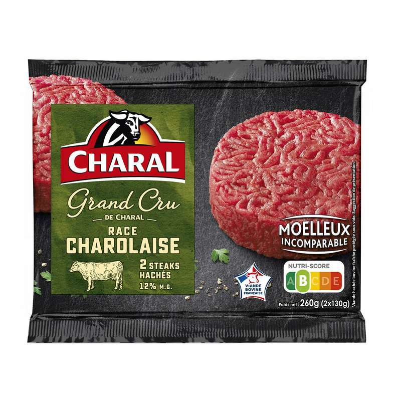 Steak haché grand cru race charolaise, Charal (x 2, 260 g)
