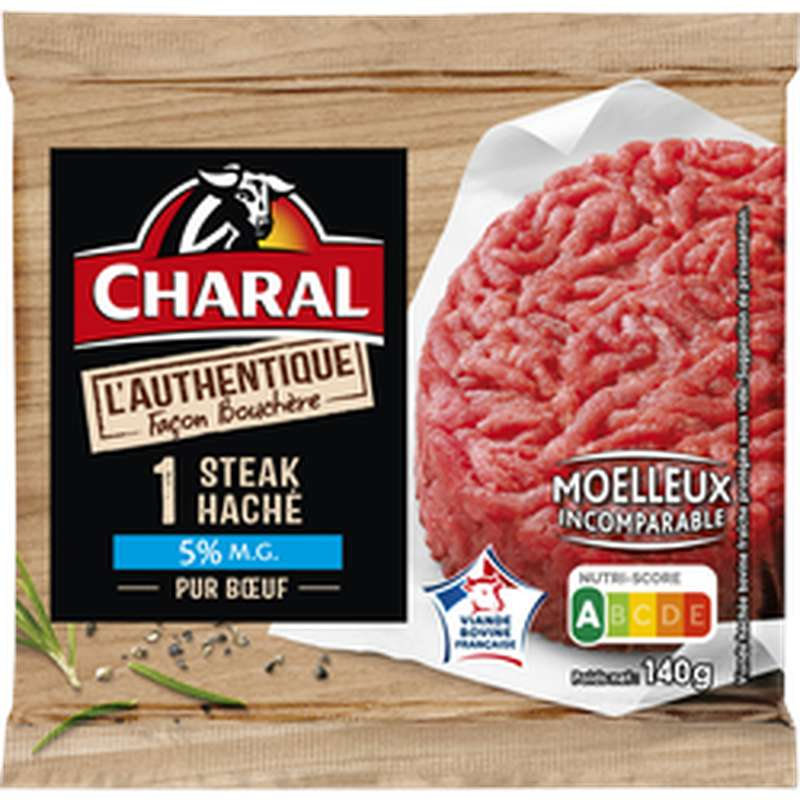 Steak haché L'authentique 5% MG, Charal (140 g)