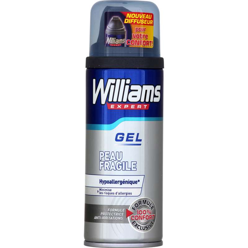 Gel à raser peau fragile, Williams (200 ml)