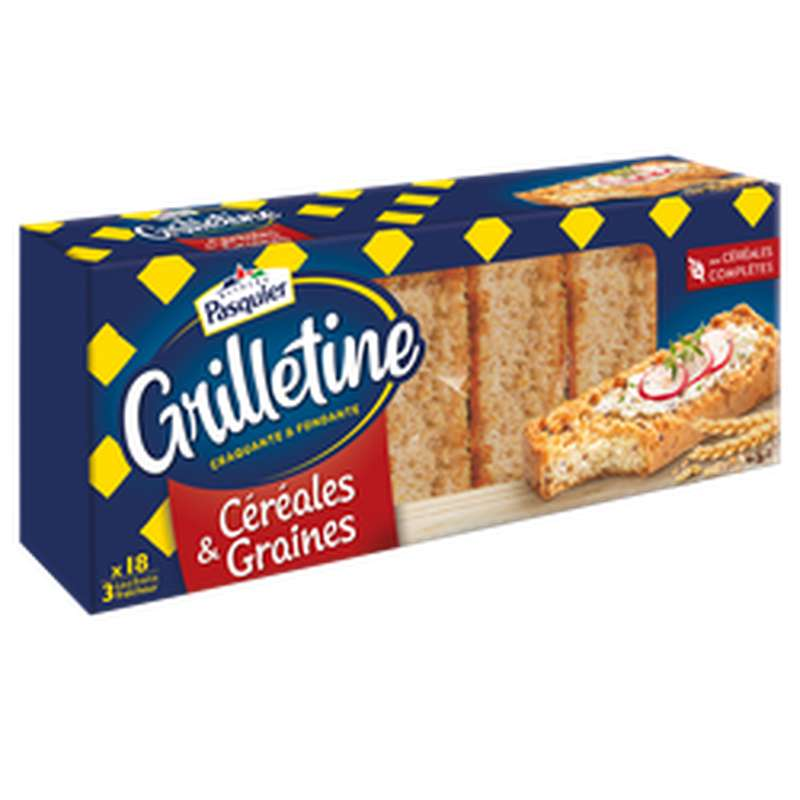 Grillettines céréales et graines, Pasquier (255 g)