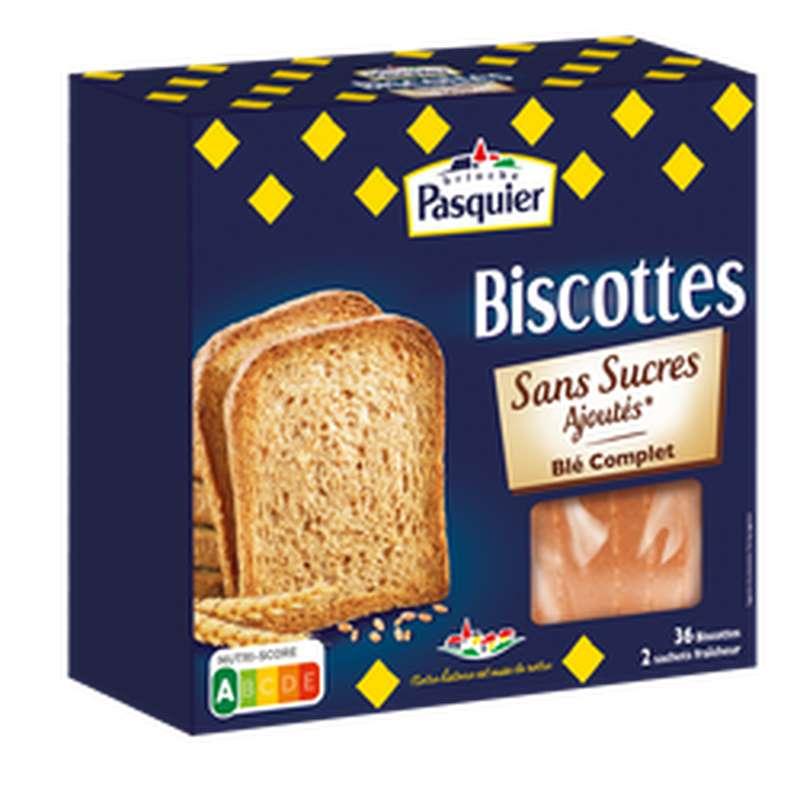 Biscottes au blé complet sans sucre ajouté, Pasquier (300 g)