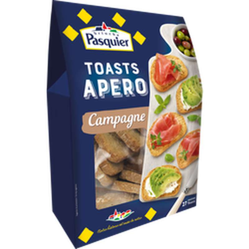 Mini toasts apéro Campagne, Pasquier (100 g)