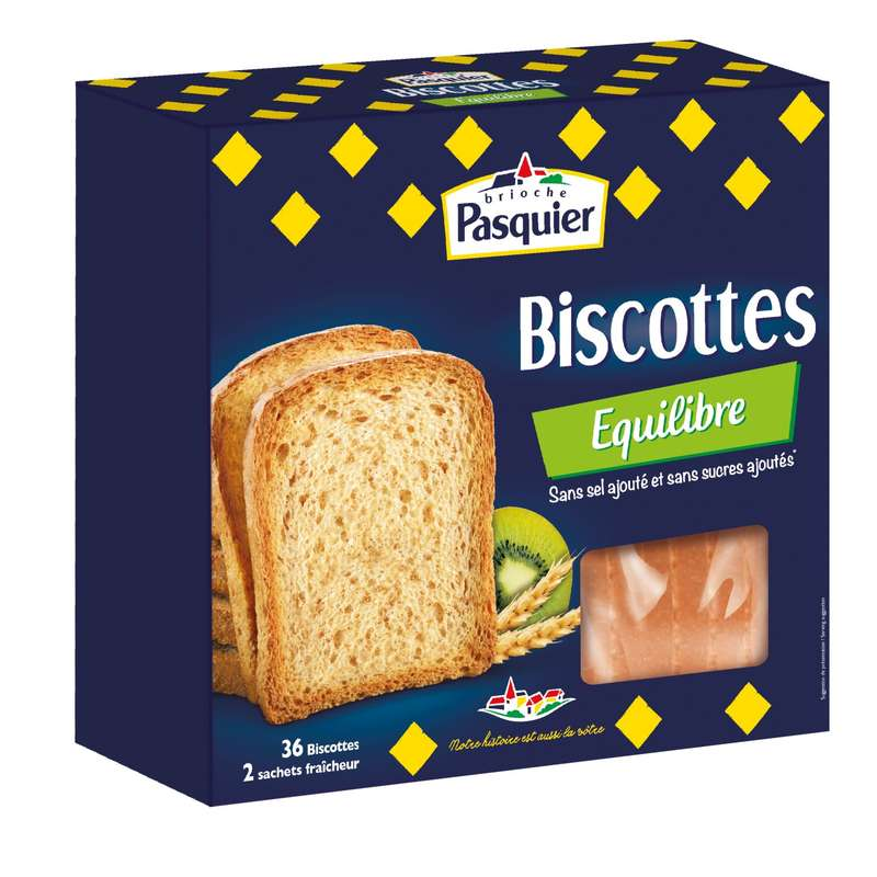Biscottes Equilibre, Pasquier (36 tranches, 300 g)
