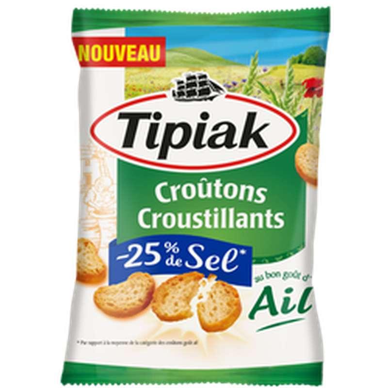 Croûtons à l'Ail -25% sel, Tipiak (80 g)