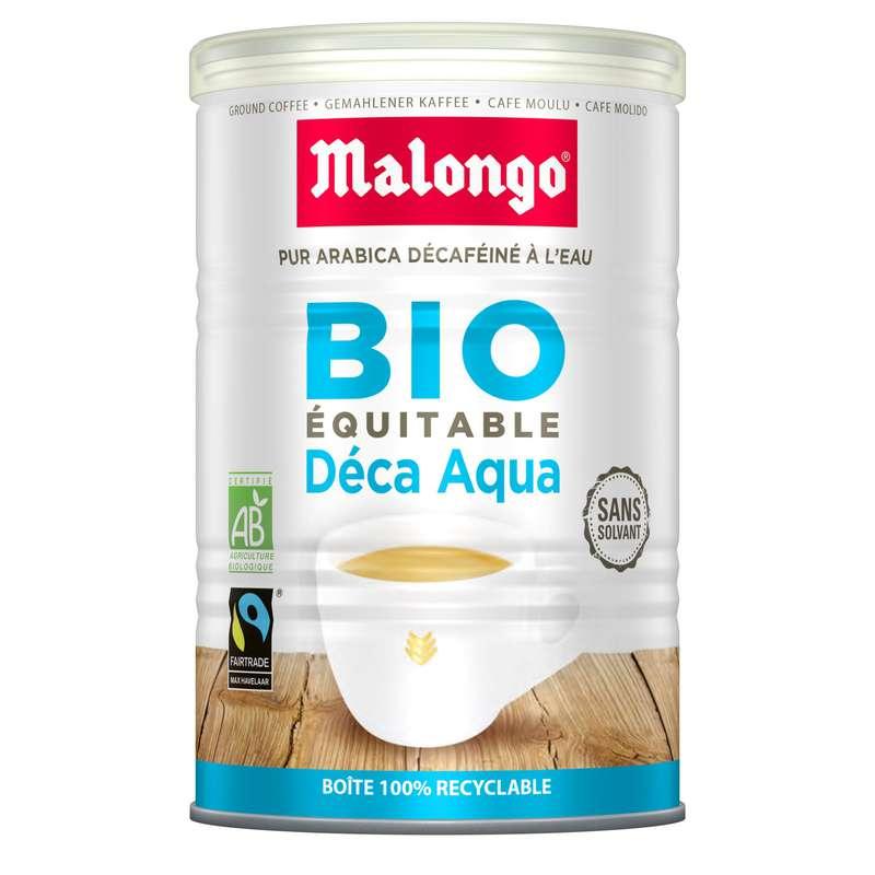 Café bio moulu décaféiné, Malongo (250 g)