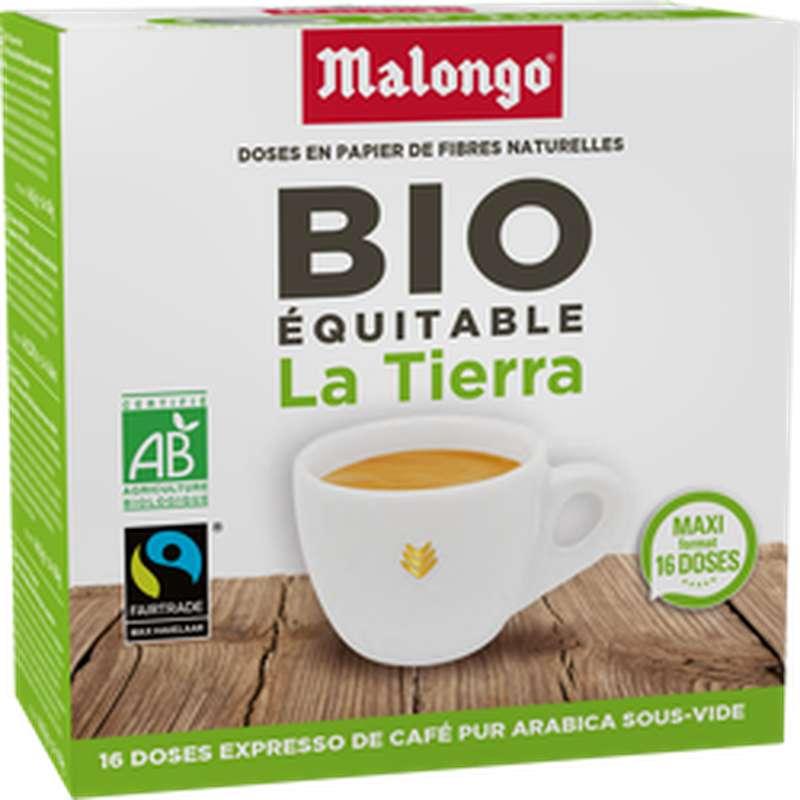 Café capsule équitable La Tierra BIO, Malongo (x 16 dosettes, 104 g)