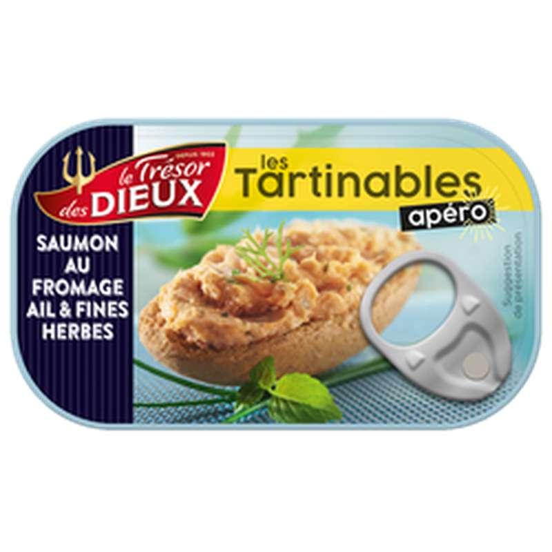 Tartinable apéro au saumon et fromage ail et fines herbes, Le Trésor des Dieux (90 g)