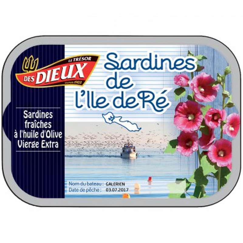 Sardines à l'huile d'olive vierge extra, Le Trésor des Dieux (115 g)