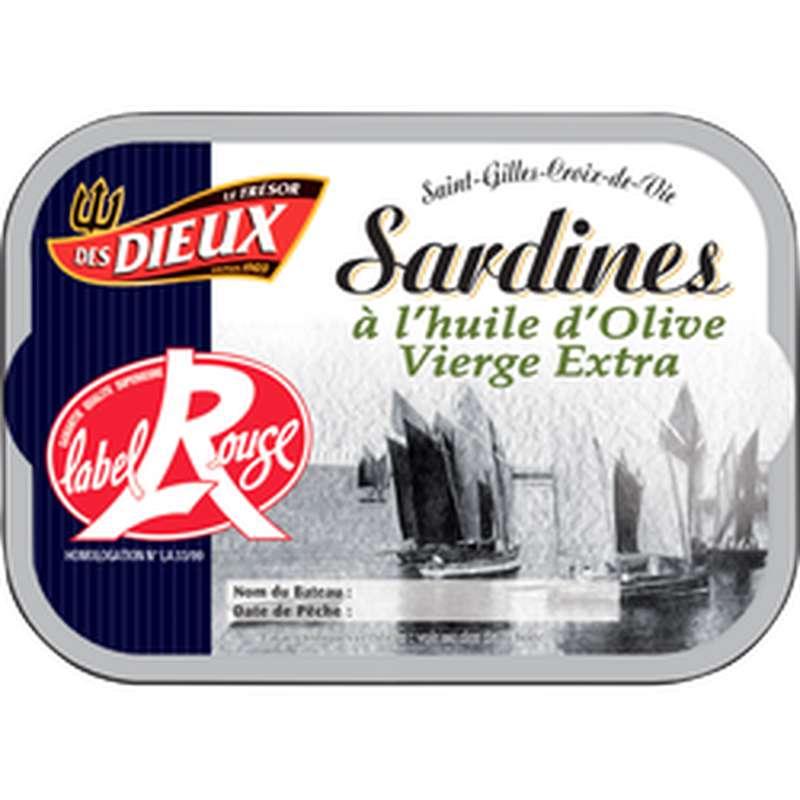 Sardine à l'huile d'olive Label Rouge, Le Trésor des Dieux (115 g)