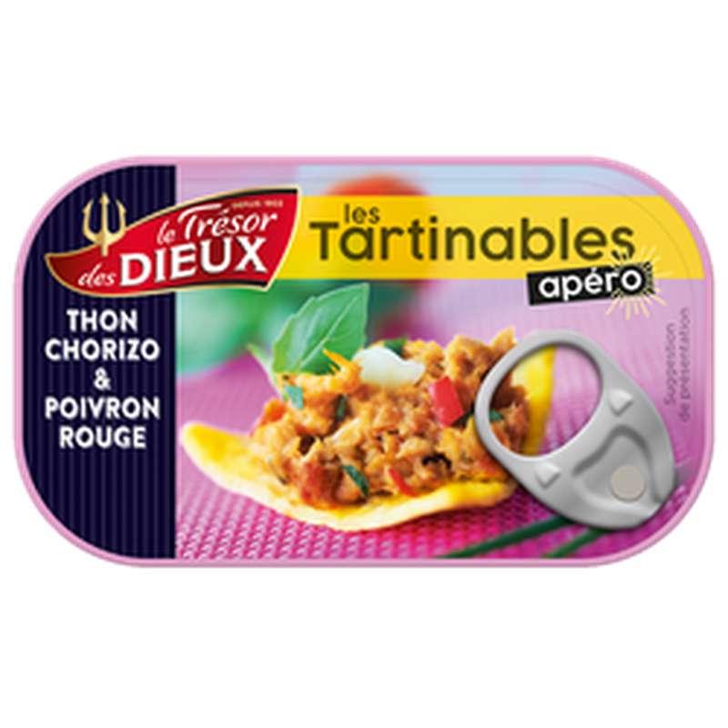 Tartinable apéro au thon, chorizo et poivrons rouges, Le Trésor des Dieux (90 g)