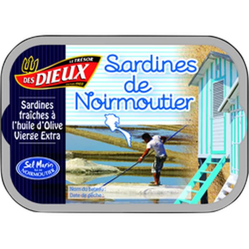 Sardines de Noirmoutier à l'huile d'olive, Le Trésor des Dieux (115 g)