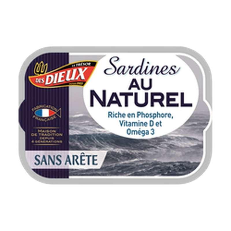 Sardines au naturel sans arêtes, Le Trésor des Dieux (115 g)