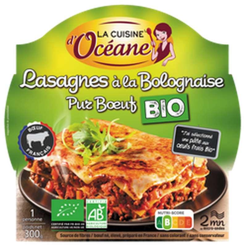 Lasagnes à la bolognaise bio pur boeuf BIO, La Cuisine d'Océane (300 g)