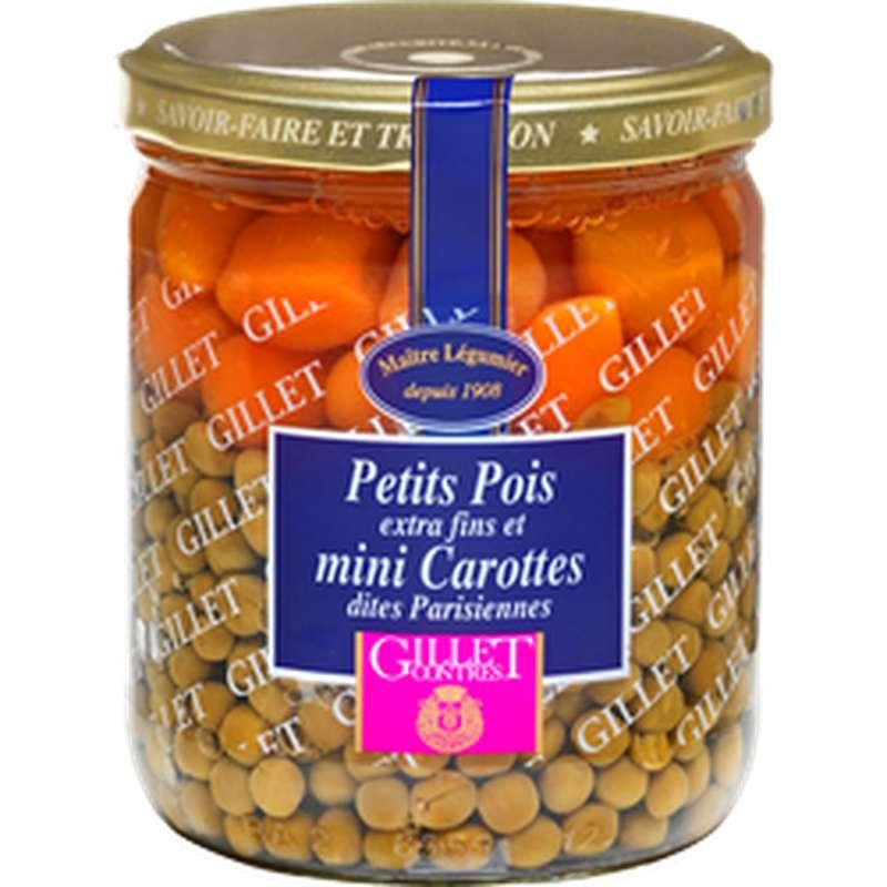 Petits Pois Extra-fins et jeunes carottes parisiennes, Gillet Contres (260 g)