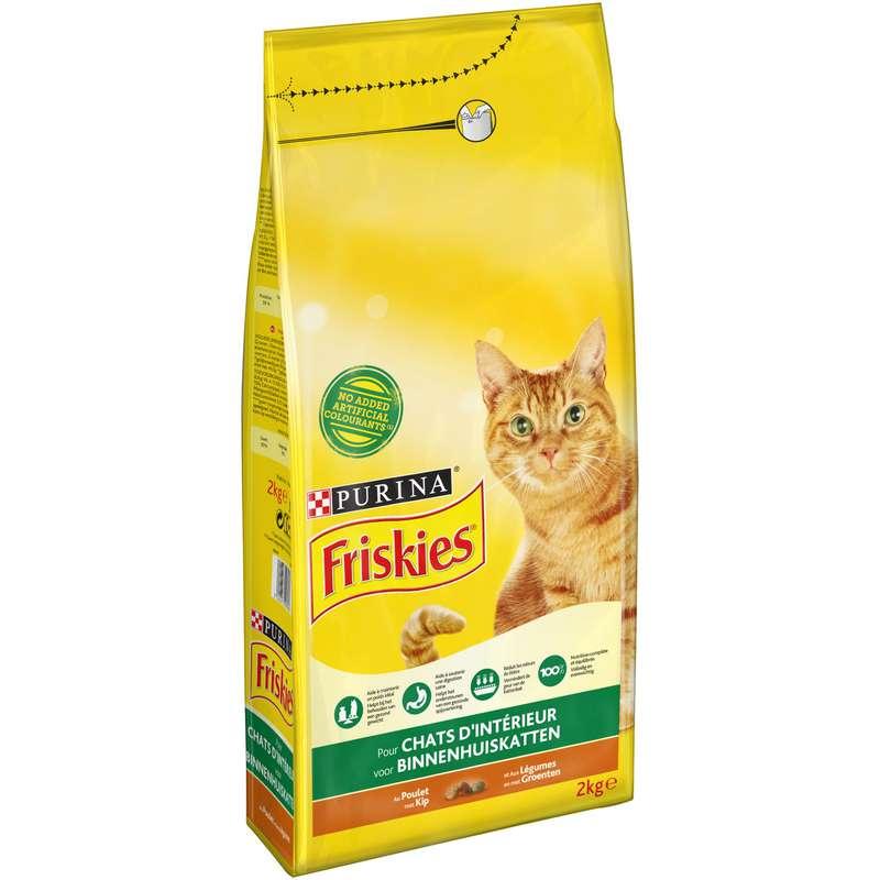Croquettes pour chat poulet et légumes, Friskies (2 kg)