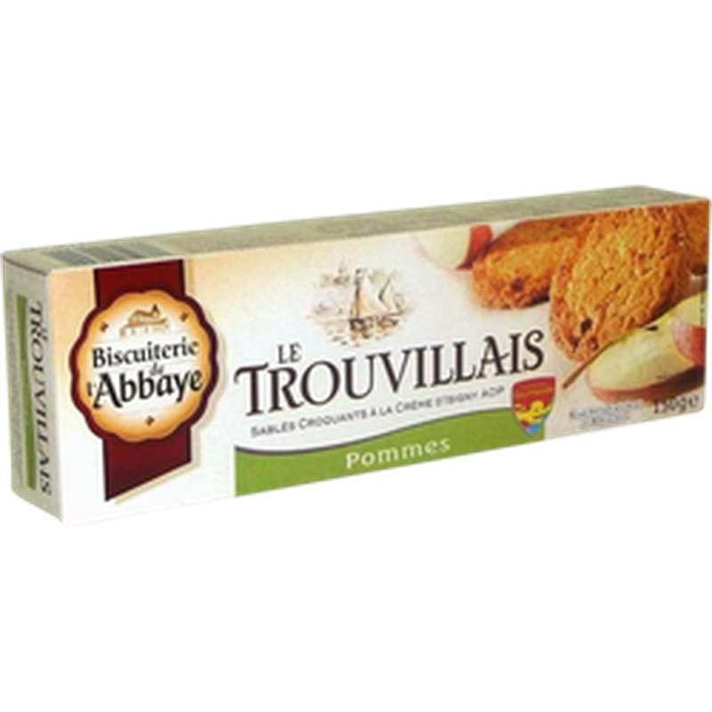 Biscuits Trouvillais pomme et citron, Biscuiterie de l'Abbaye  (150 g)