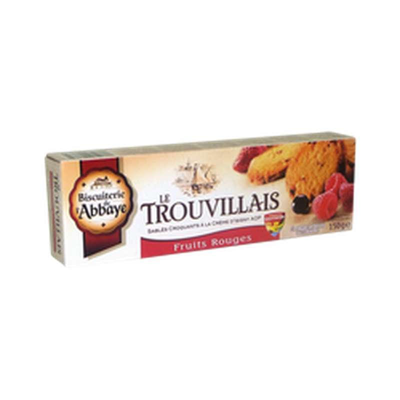 Sablés Le Trouvillais aux fruits rouges, Biscuiterie de l'Abbaye (150 g)