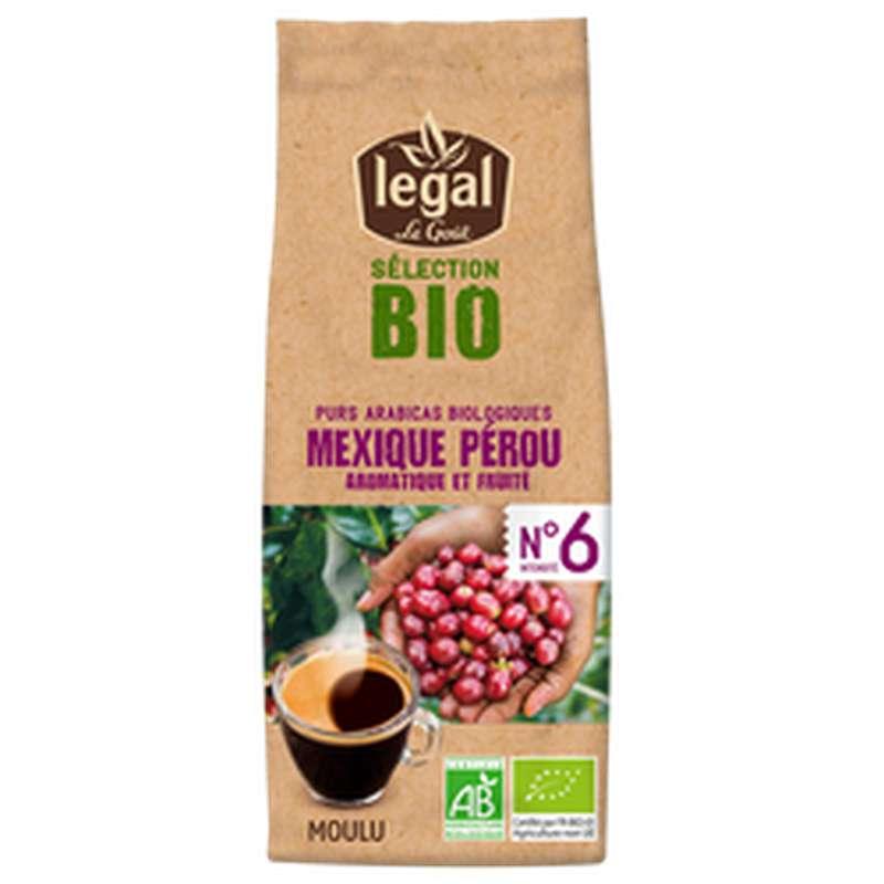 Café moulu Mexique et Pérou BIO, Legal (250 g)
