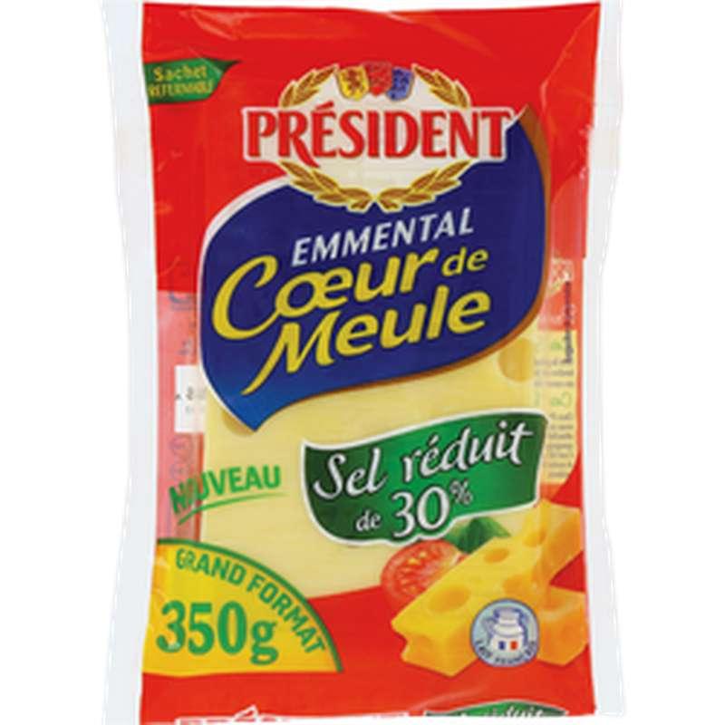 Emmental Coeur de Meule sel réduit de 30%, Président (350 g)
