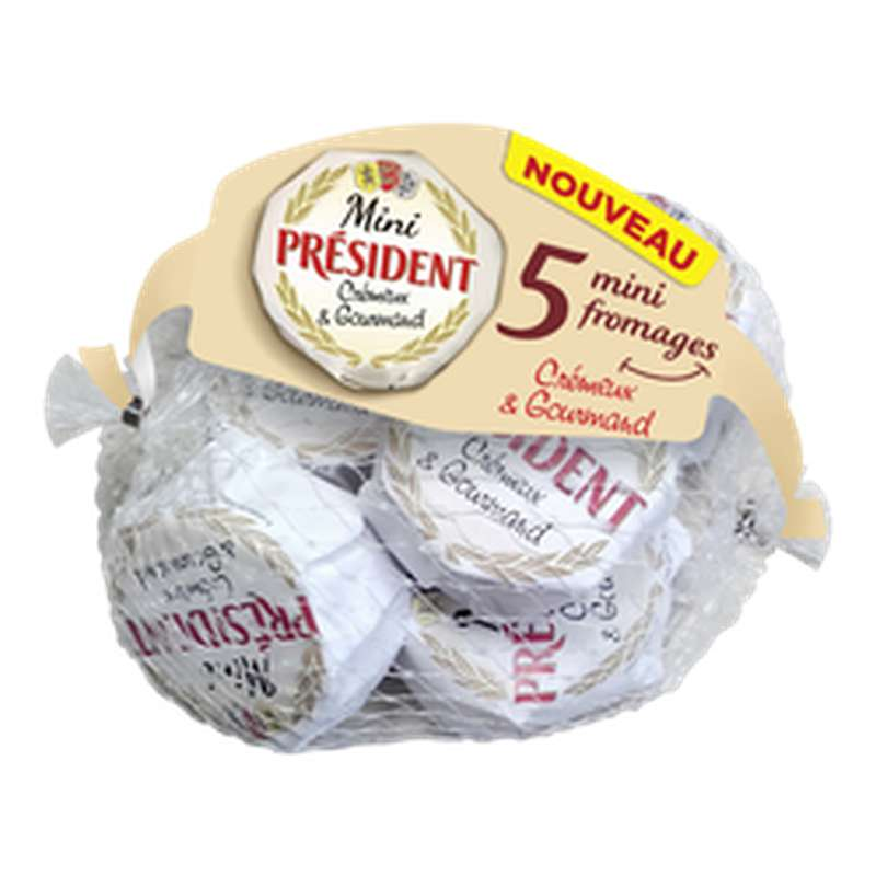 Sachet de 5 Mini Fromages 29% MG, Président (5 x 150 g)